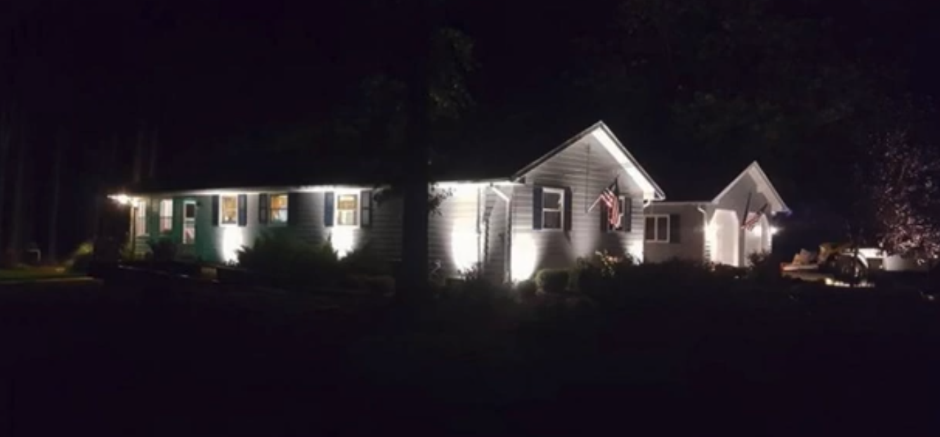 Accent your house at night with Seasonal Yard Work   Avon, OH