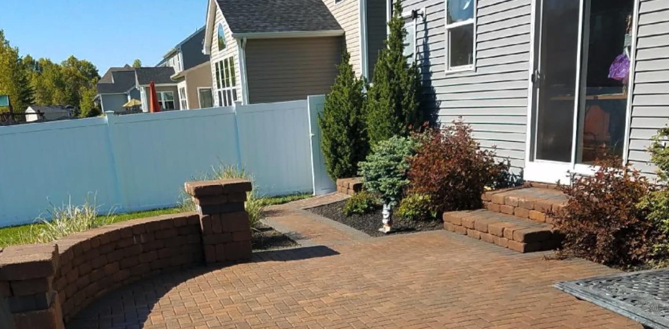 Paver patio done by Seasonal Yard Work with warranty | Avon, Ohio