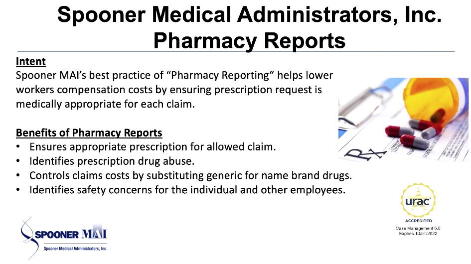 Spooner Medical Administrators, Inc. Pharmacy Reports