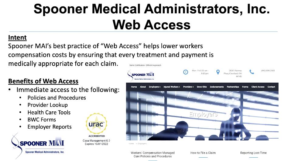 Spooner Medical Administrators, Inc. Web Access