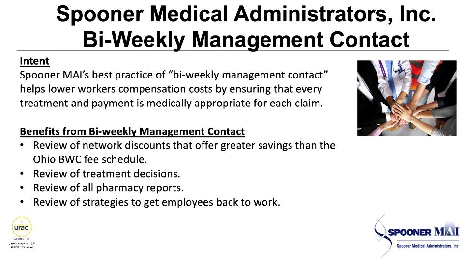Spooner MAI Bi Weekly Management Contact