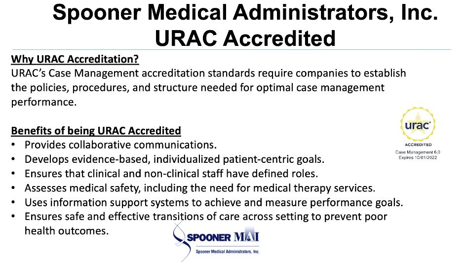 Spooner MAI URAC Accredited