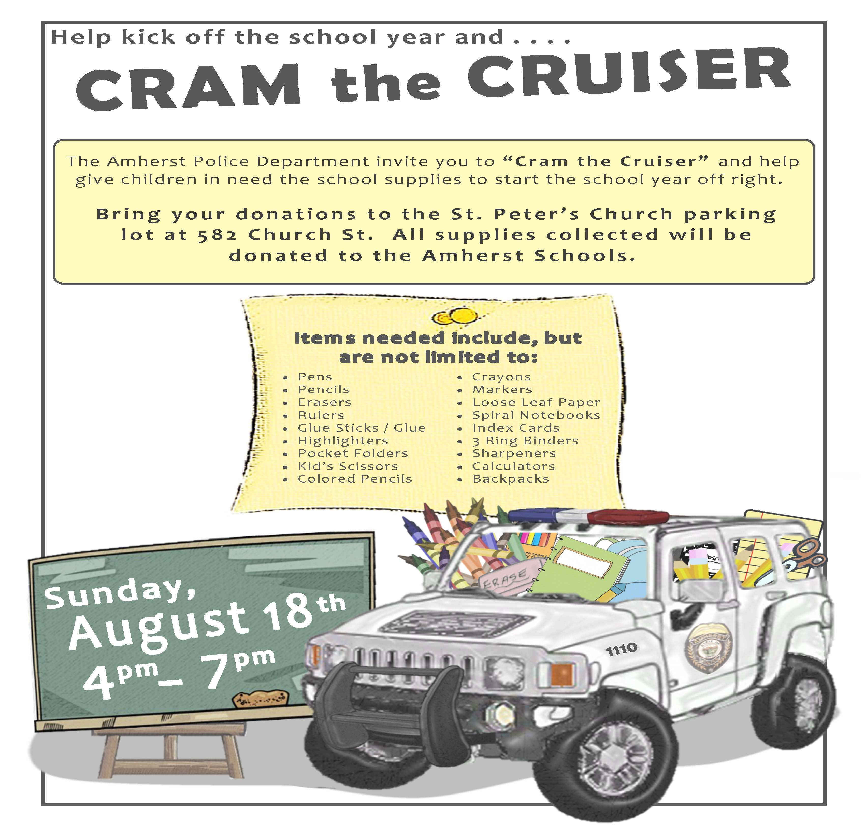 Cram the Cruiser 2019