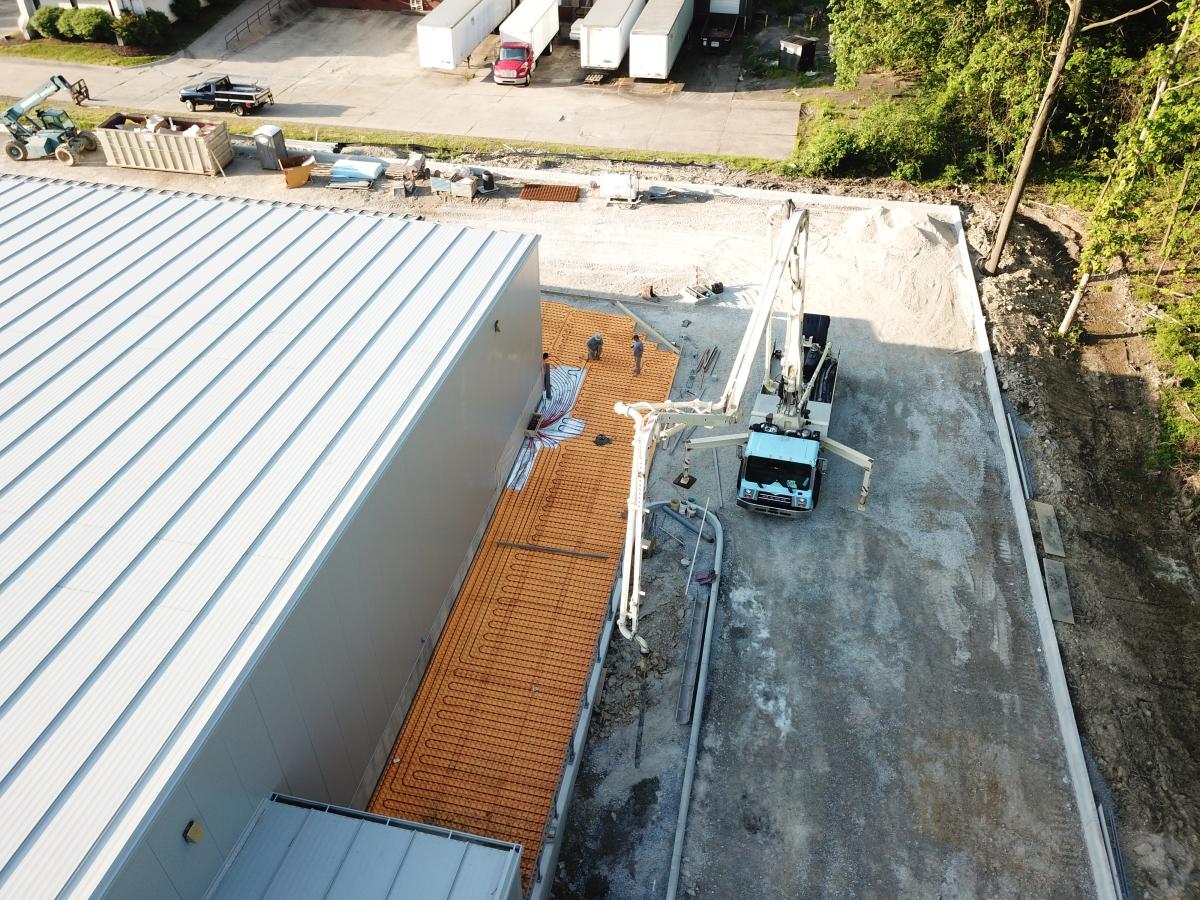 NEW CONSTRUCTION FLOOR HEAT EXTERIOR