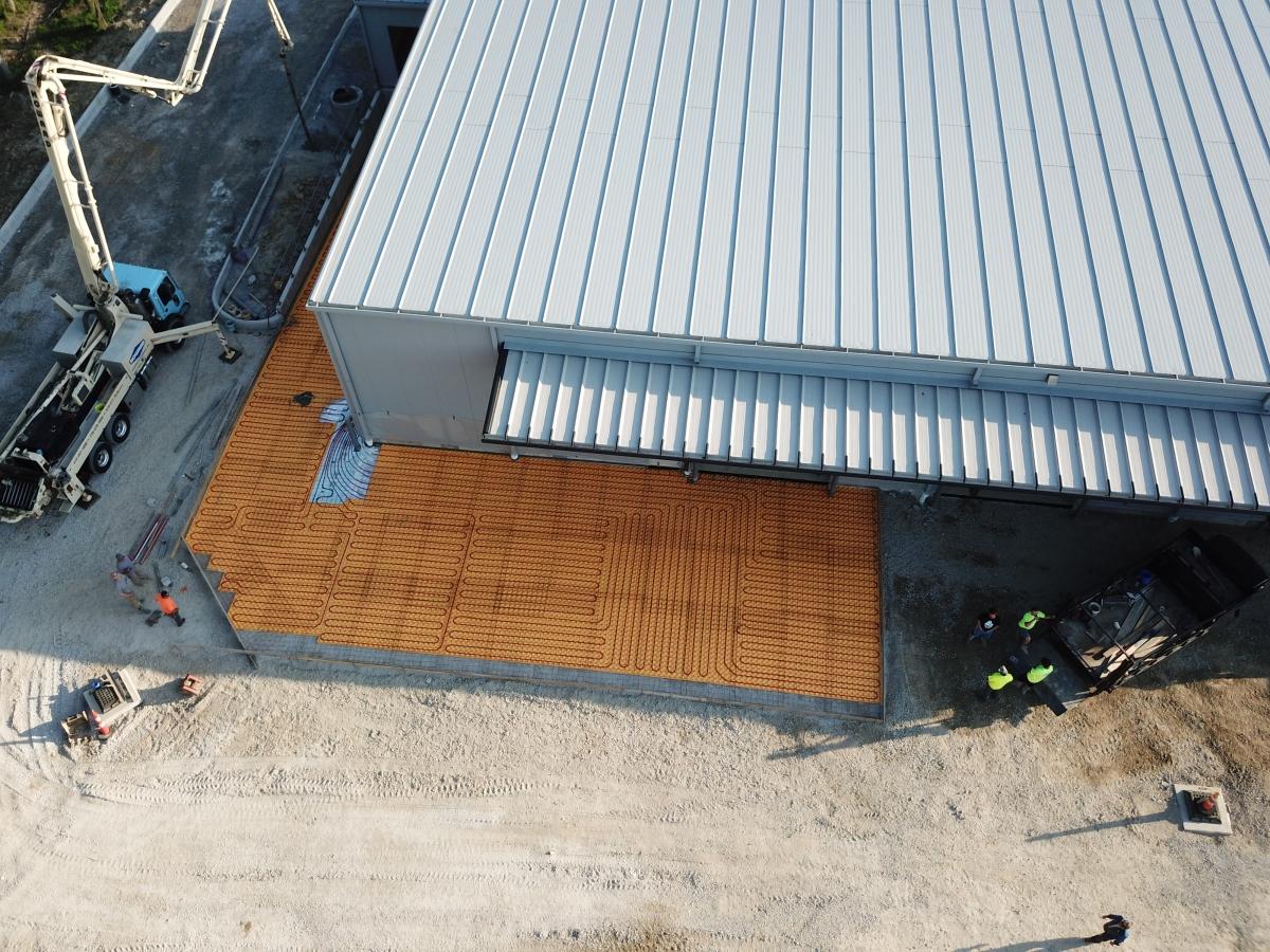 new outdoor floor heat for ice melt