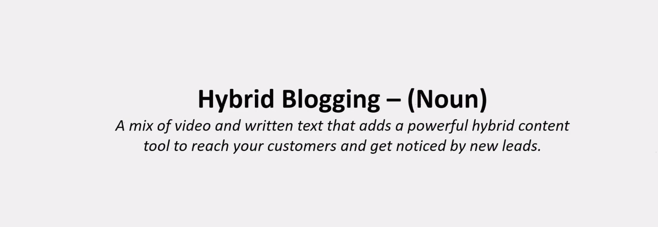 Definition of a hybrid blog | Virteom