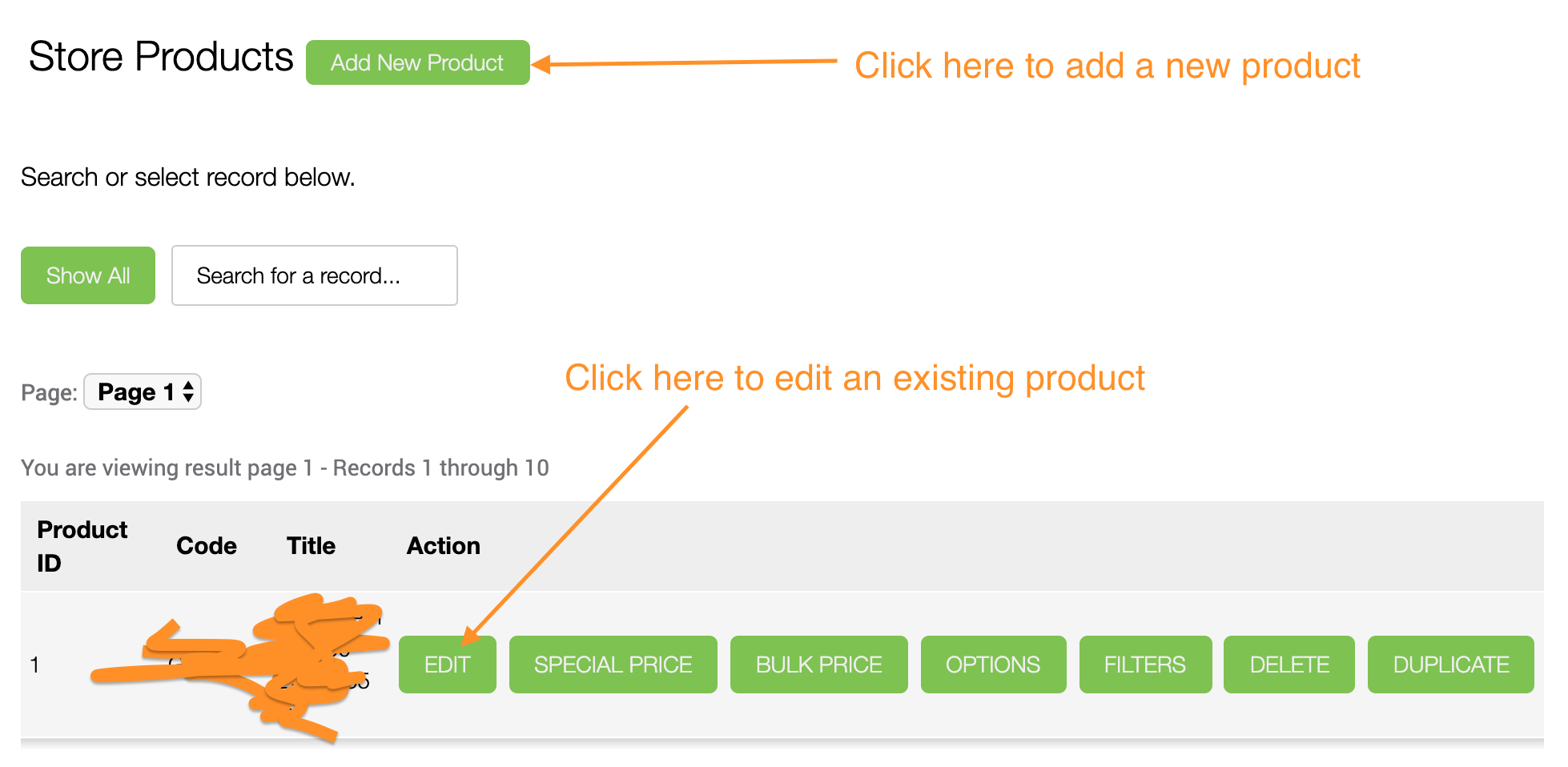 Store Module - Add a New Product