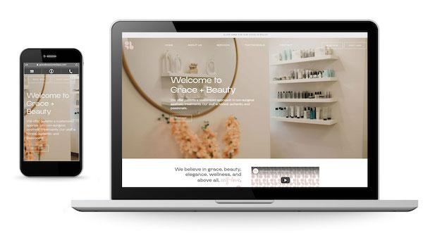 New Website Launch: Grace + Beauty Medical Spa
