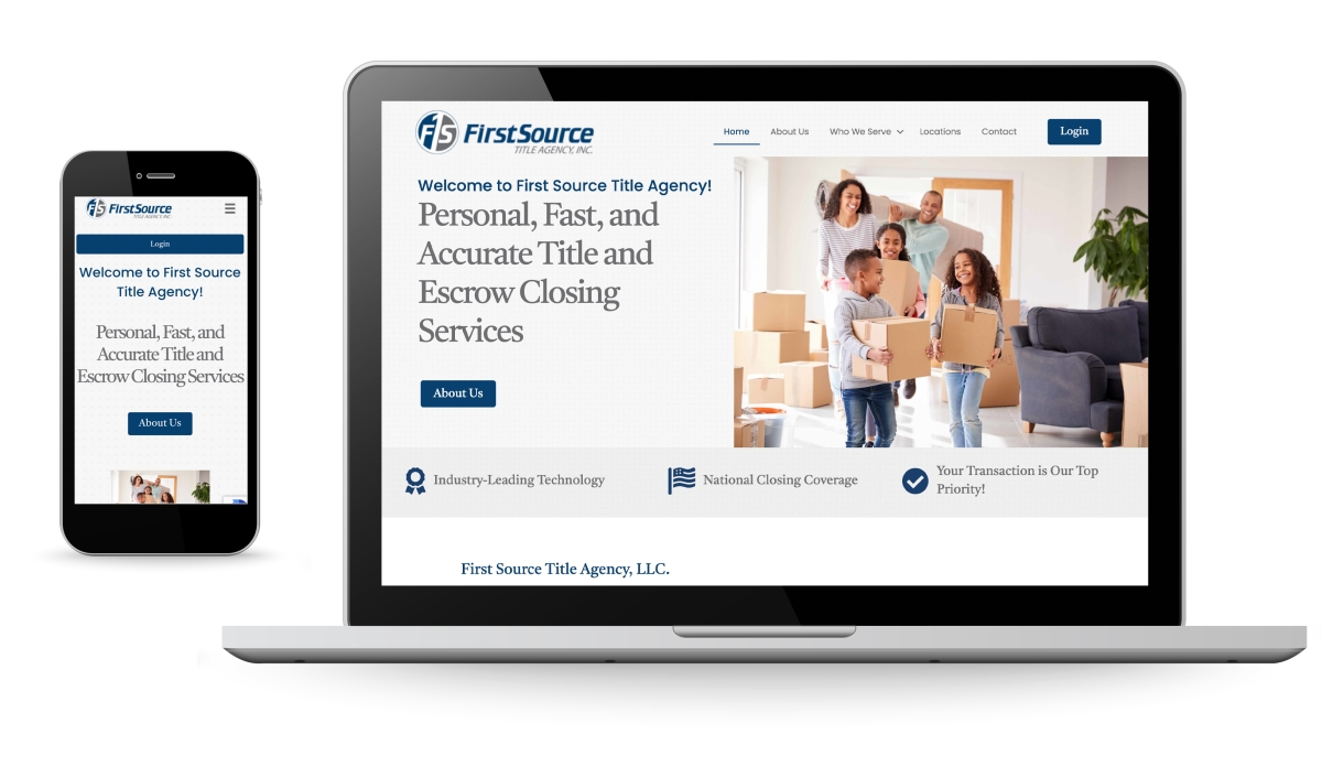New Website for Local Title & Escrow Agency