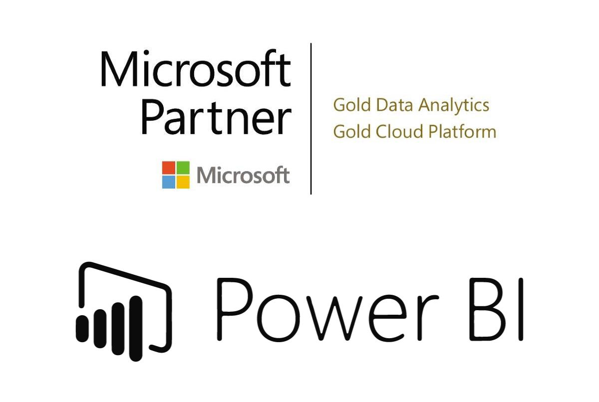 Microsoft Partner Logo with Power BI Logo