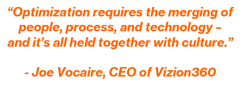 Quote by Joe Vocaire on Optimization of Data-Driven Manufacturing