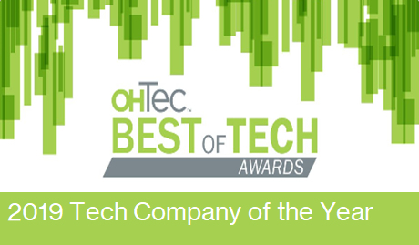 2019 Small Tech Company of the Year with OHTec Best of Tech