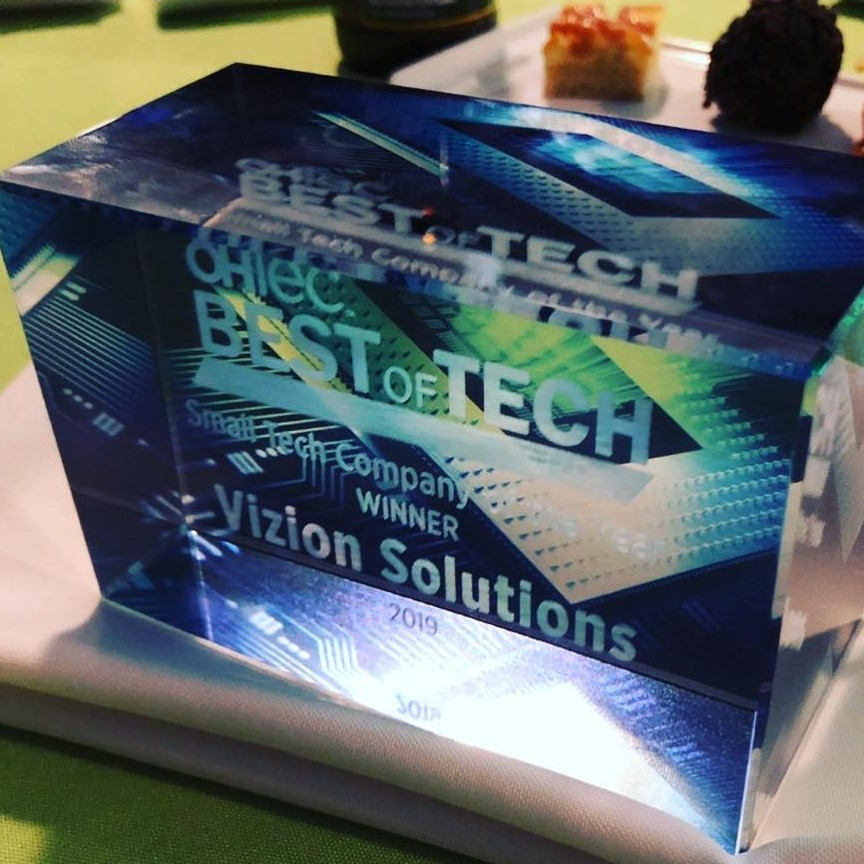 OHTec Award Best of Tech for Small Company