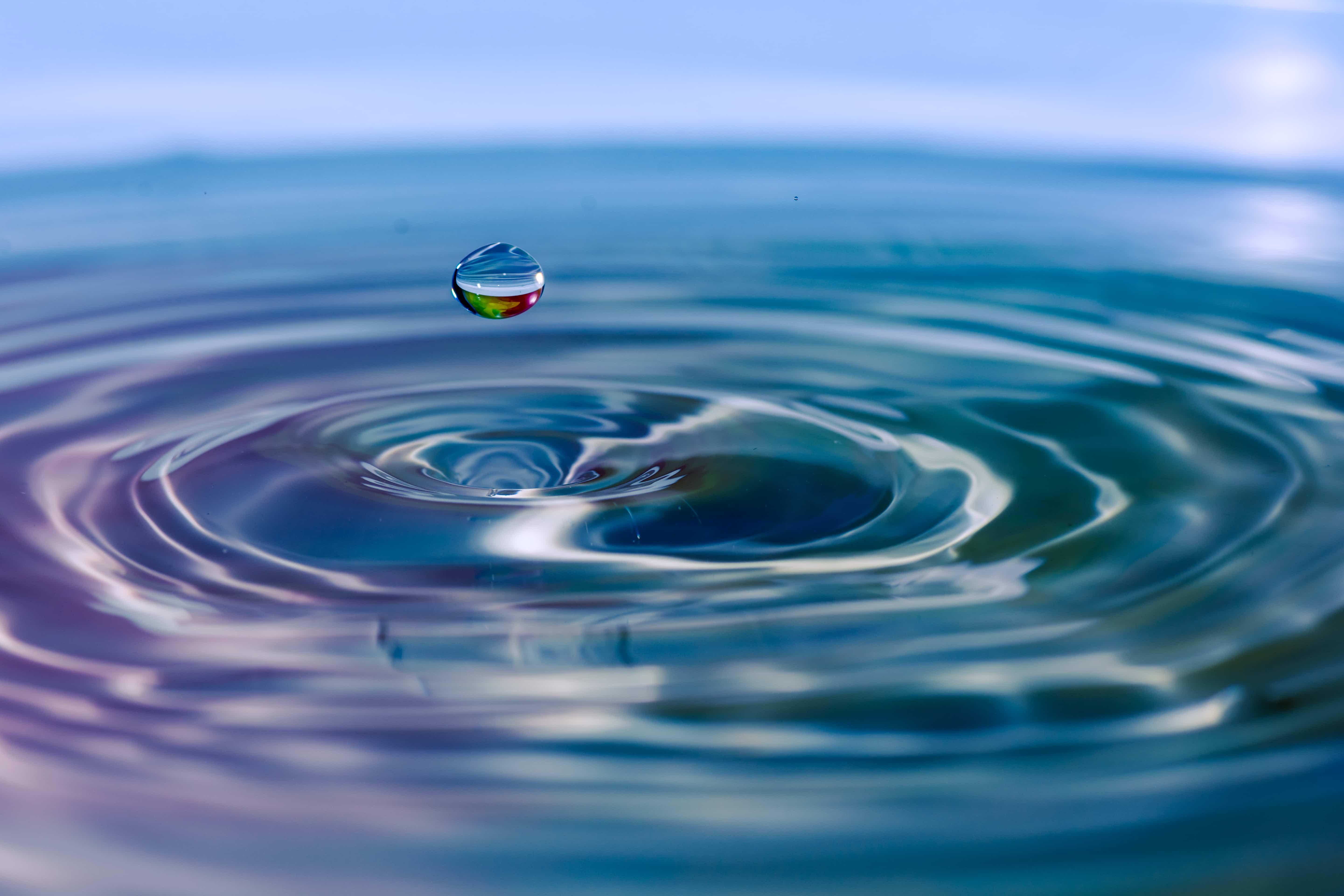 water droplet image representing impact