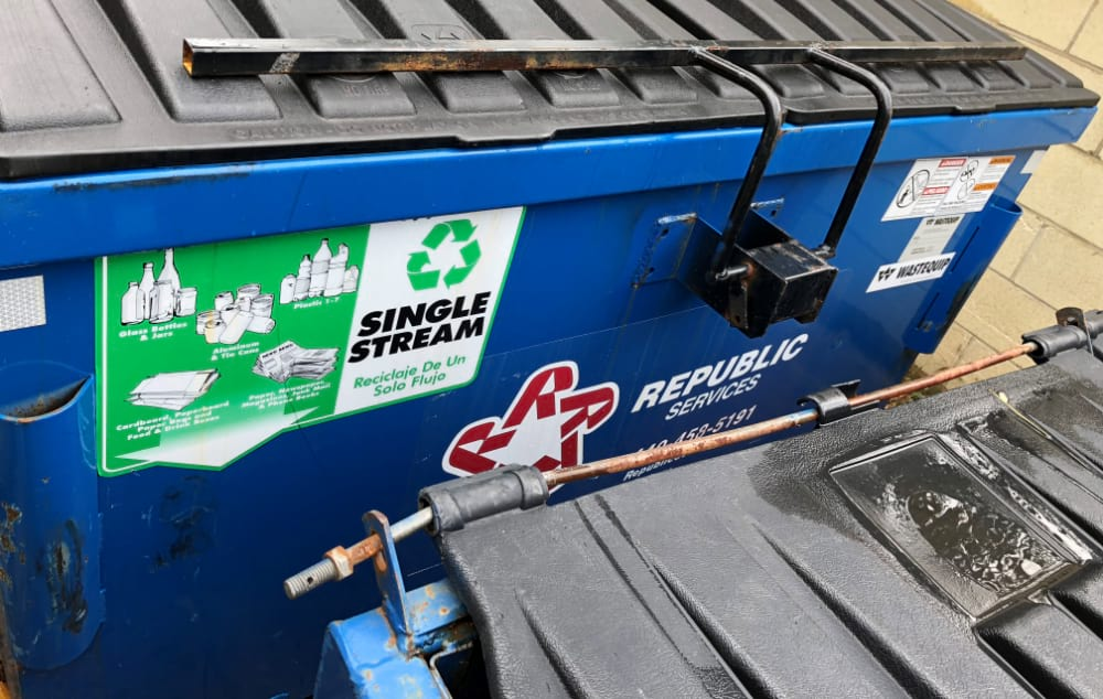Recycling Bin On Site | Weber Automotive