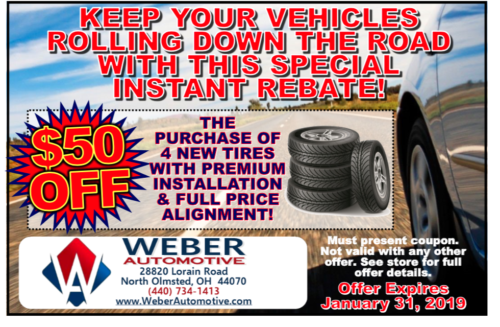 January Offer on Tires | Weber Automotive