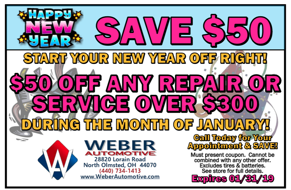 Auto Savings with Weber Automotive