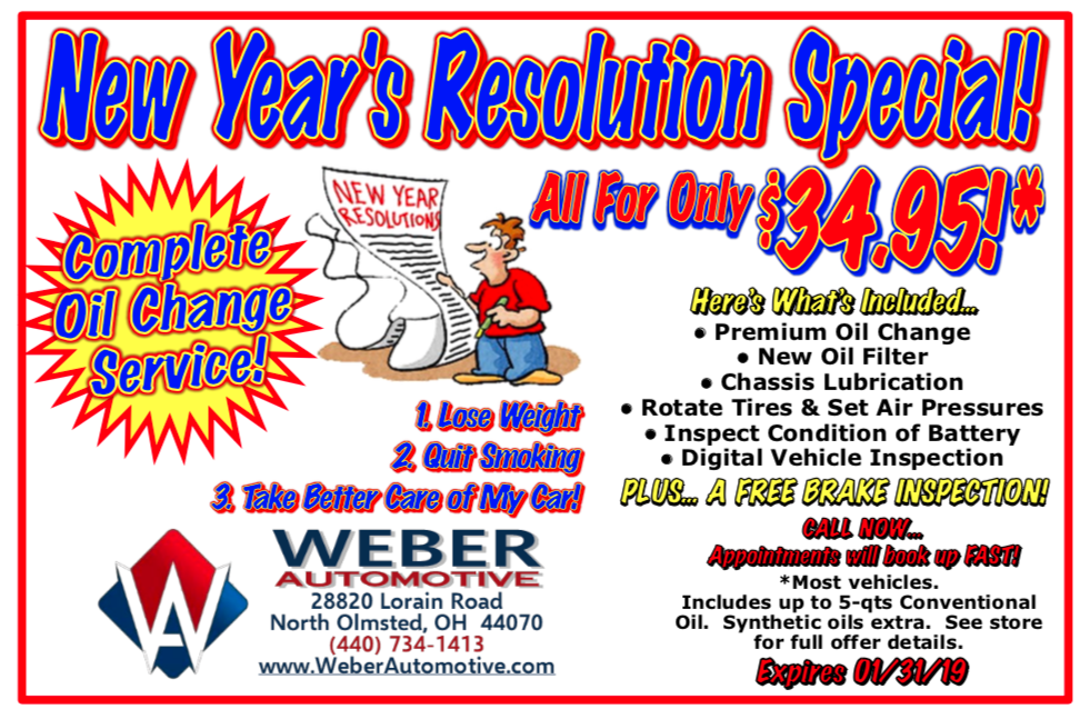 Happy New Year Promo | Weber Automotive