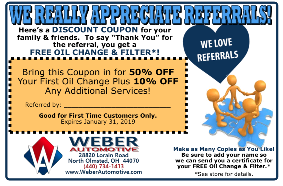 Referral Program with Weber Automotive