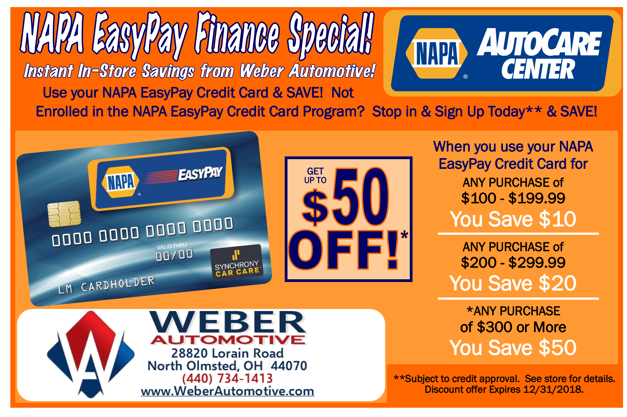 NAPA Autocare Coupon