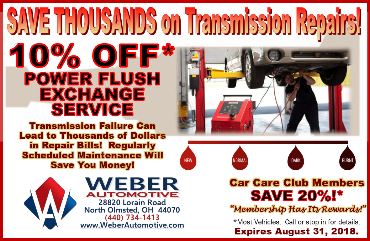 Save Thousands on Transmission Repairs at Weber Automotive