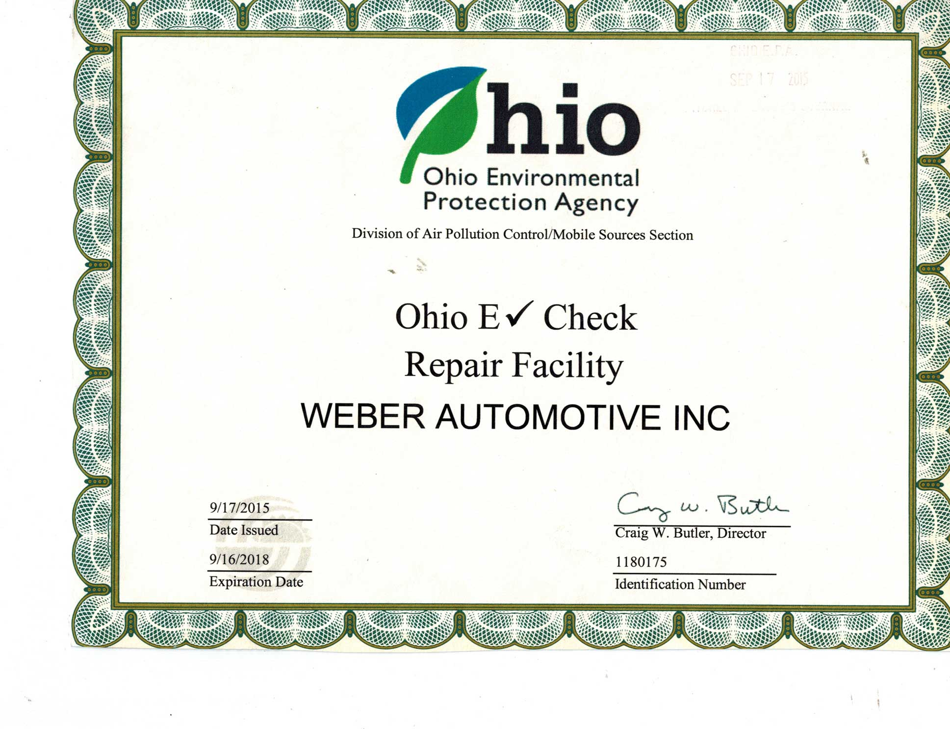 E-Check Certification | Weber Automotive