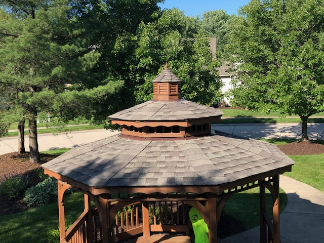 new gazebo roof from West Side Roofing in Cleveland, Ohio