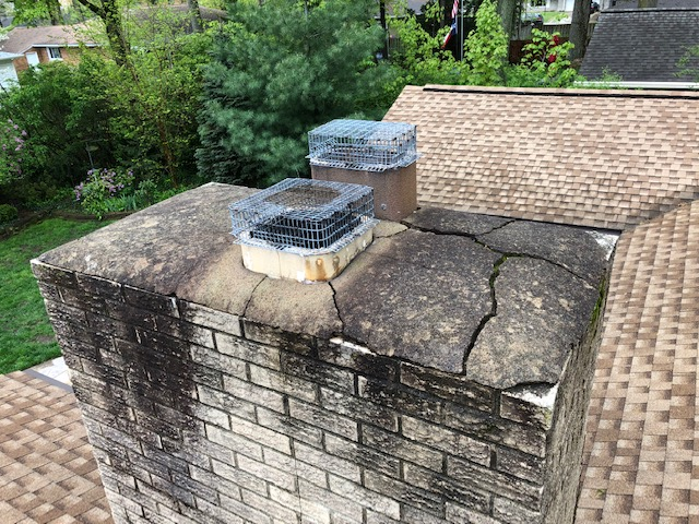 cracks in chimney | West Side Roofing