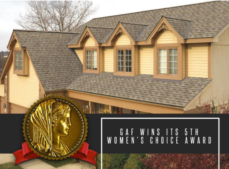 GAF Wins Womens Choice Award | Westside Roofing