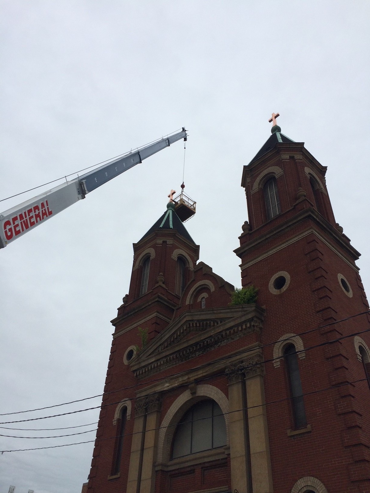 Church roof repair in downtown cleveland