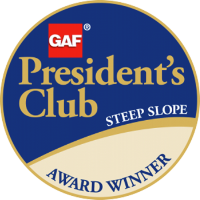 GAF President's Club Steep Slope Award Winner