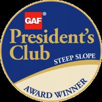 GAF President's Club Steep Slope Award Winner