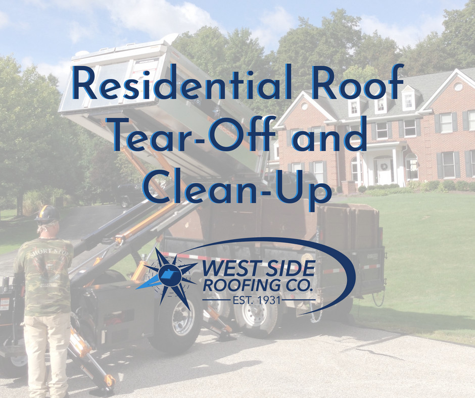 Residential Roof Tear off and Cleanup
