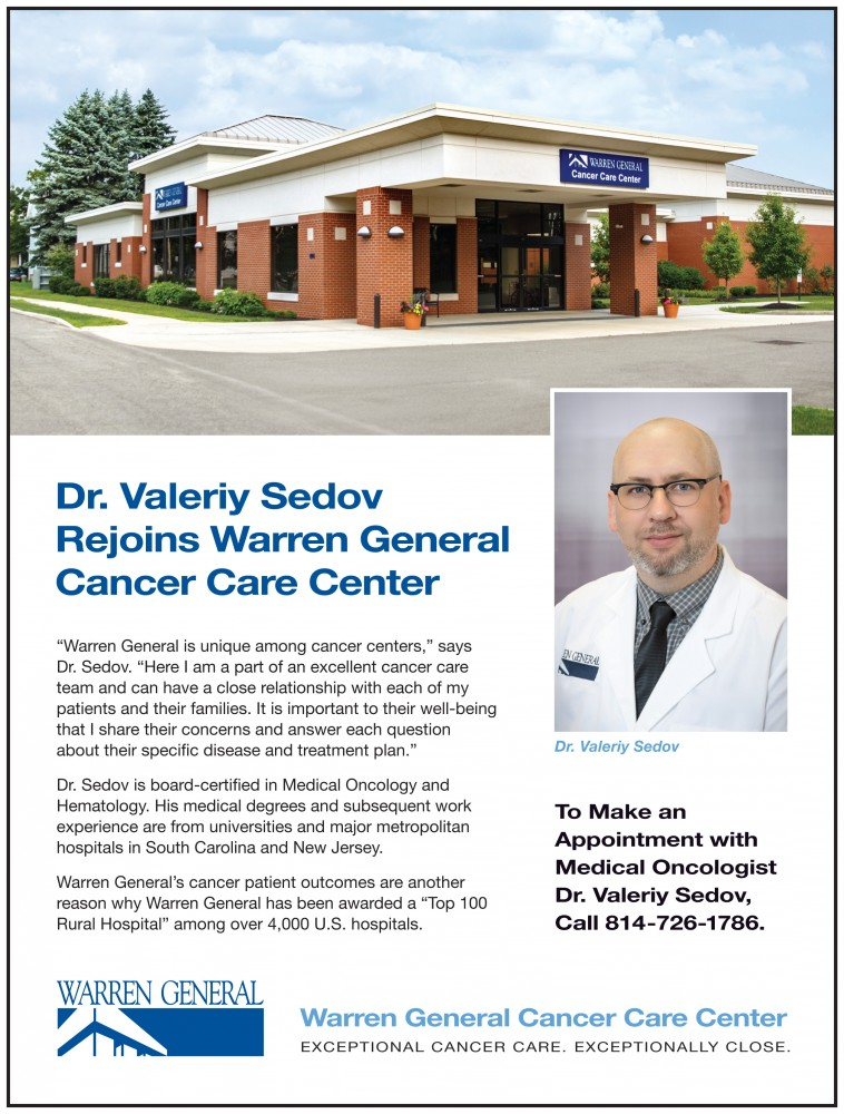 Dr. Valeriy Sedov Rejoins WGH Cancer Care Center