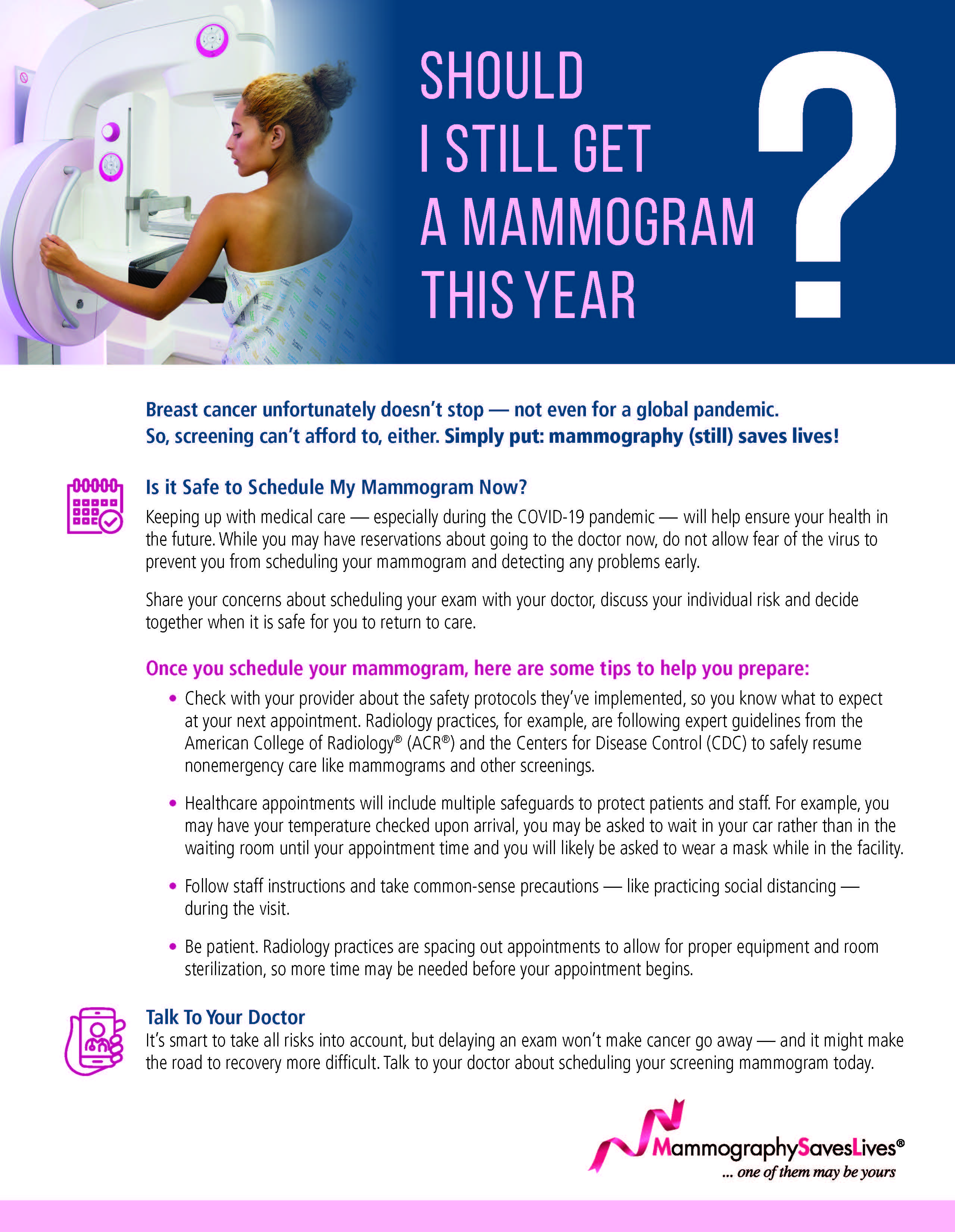 Should I still get a Mammogram this year?