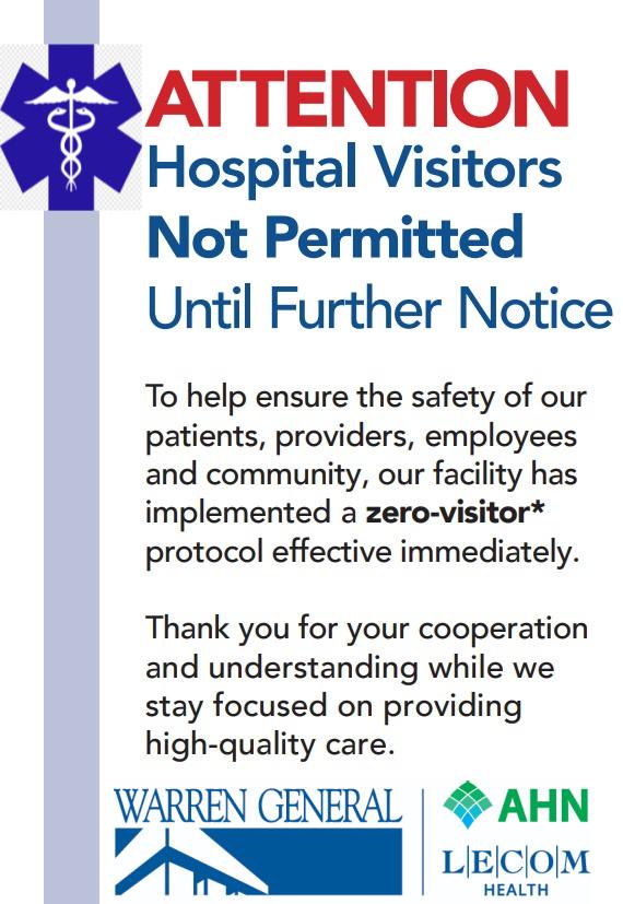 New WGH Visitation Policy 9/7/2021
